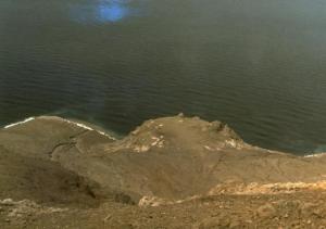 Gunung Iligripe, salah satu gunung parasiter di Gunung Iliwerung, diabadikan pada 1979. Gunung parasiter ini terbentuk dalam letusan 1948 yang dramatis. Sumber: Global Volcanism Program Smithsonian Institution, 2013.