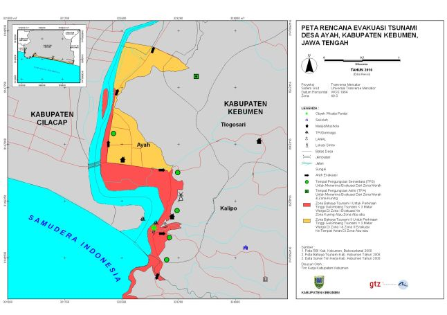 Peta Evakuasi Desa Ayah