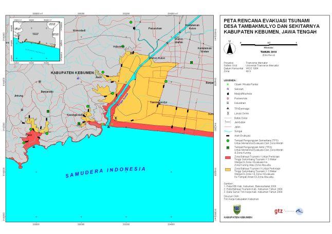 Peta Evakuasi Desa Karangbolong & Tambakmulyo