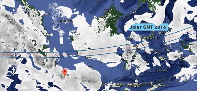 Gambar 4. Prakiraan tutupan awan di Indonesia pada 23 Maret 2016 TU pukul 18:00 WIB berdasarkan analisis kanal SADEWA di LAPAN. Nampak sebagian besar Indonesia tertutupi awan. Sumber: LAPAN, 2016.